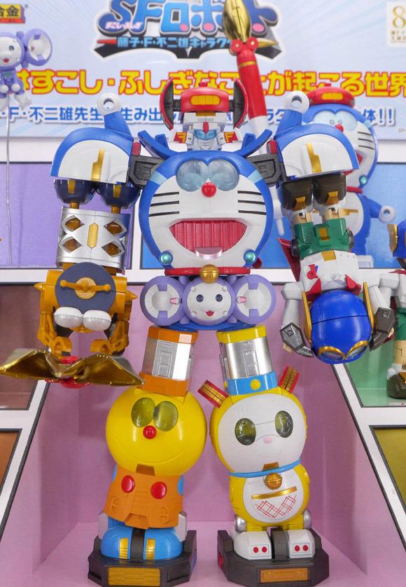 Bandai to release super-mega-retro-robot made up of Doraemon and friends