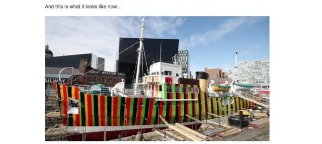 How do you hide a 760-tonne ship? Paint it so bright it dazzles