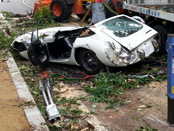 You (only) live twice! Repair work begins on priceless Toyota 2000GT crushed by falling tree