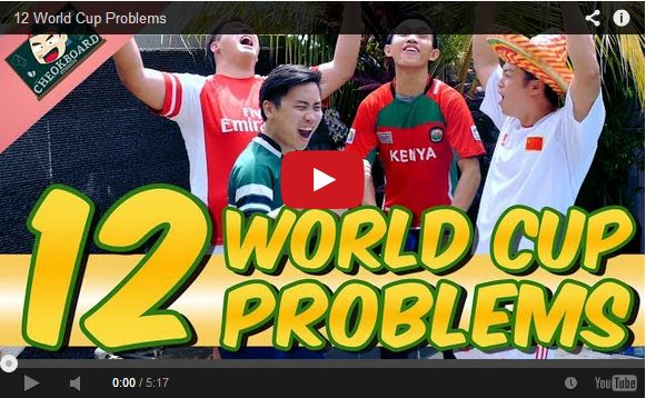 A hilarious compilation of 12 problems people encounter while watching the World Cup