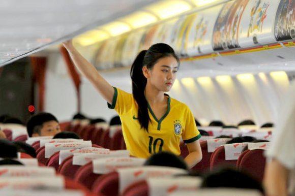 flight attendant brazil world cup jersey
