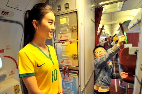 flight attendant brazil world cup jersey5