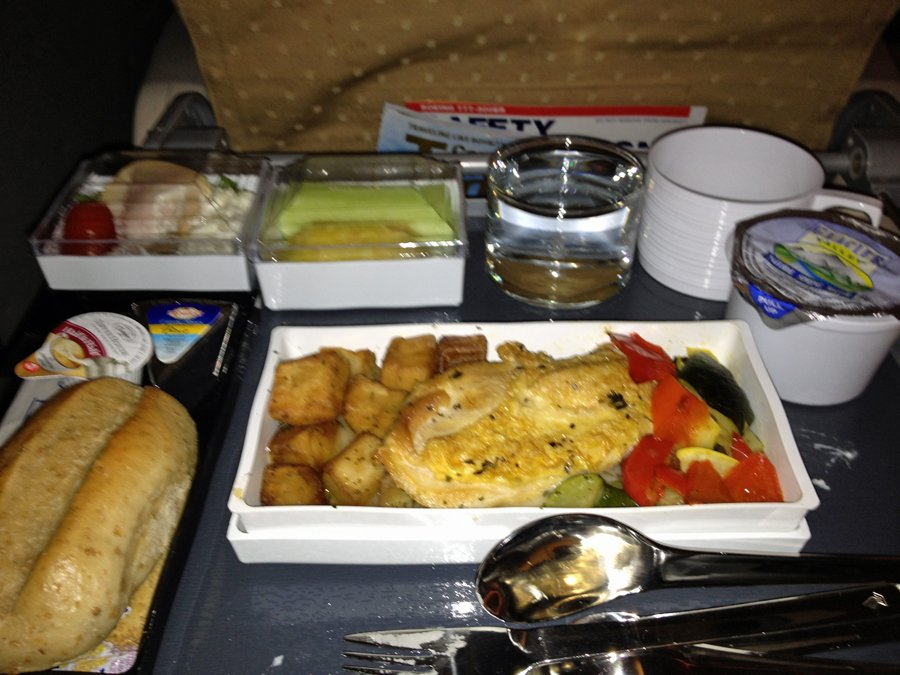 for-dinner-on-the-first-leg-of-the-trip-to-frankfurt-i-ordered-the-pan-fried-chicken-with-creamy-herb-sauce-vegetables-and-potatoes-it-was-surprisingly-decent