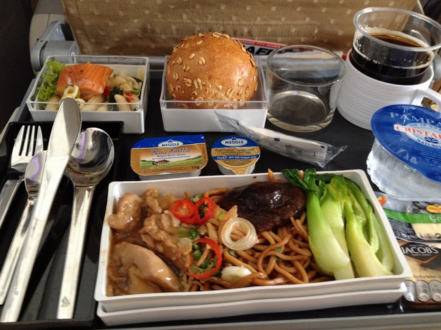 for-lunch-on-the-second-leg-of-the-trip-from-frankfurt-to-singapore-i-ordered-the-stir-fried-chicken-with-chinese-vegetables-and-noodles-which-was-tasty-i-also-appreciated-small-things-like-the-fact-that-they-include-real-utensils-and-not-t