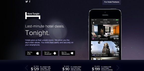 Hotel Tonight Website 1