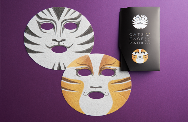 Keep your skin purr-fect with a feline face pack featuring characters from Cats the musical
