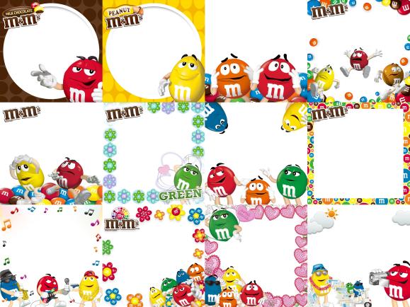 M&M's Japan free smartphone app photo frames