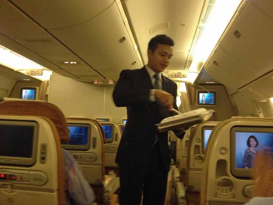 once-youre-seated-flight-attendants-bring-you-steaming-hot-towels