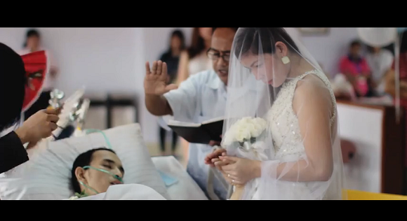 No dry eyes: Terminally ill man weds his love mere hours before passing