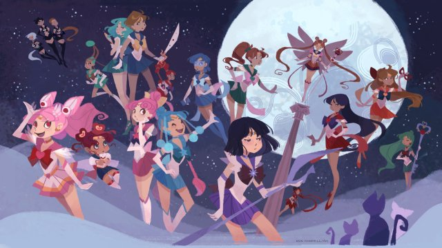 What Sailor Moon characters would look like if they were born in the Western world