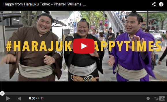 "Harajuku-themed music video improves Pharrell Williams' ""Happy"" with sumo, bears, and robots"