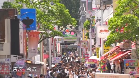 Takeshita-dori (street) in Harajuku, Tokyo