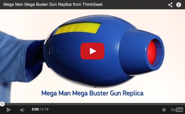Another sensible purchase: Replica Mega Man arm cannon can be yours for just $80!