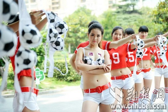 "Women in China say the World Cup makes them sad, protest by removing their ""World Cups"" in public"