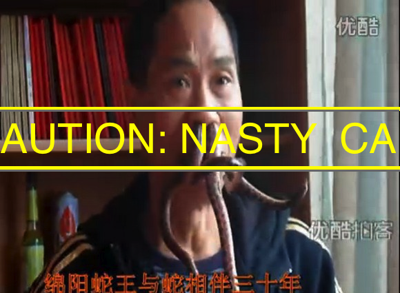 Chinese man pulls off best Cthulhu impersonation ever with live snakes in his sinuses