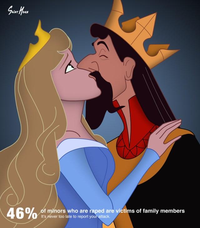 Princest Diaries: Artist uses Disney Princesses in Rape Awareness posters