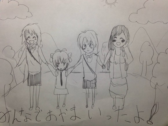 Father posts six-year-old daughter's anime character drawings online, net users not convinced