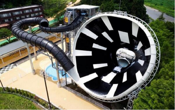 Japan's new water slide has to be seen to be believed!
