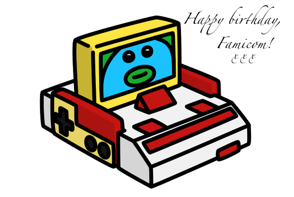 Happy birthday, Famicom! The console that bought video games back from the dead turns 31 today