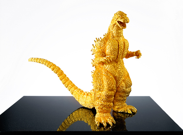 Japanese jeweler's glittering gold Godzilla is amazingly detailed, shockingly expensive