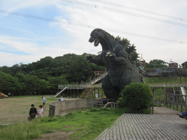 We spend an afternoon in the park with the King of the Monsters at Kurihama's Godzilla Slide