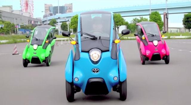 See Toyota's cute and compact i-ROAD in action on Tokyo's streets