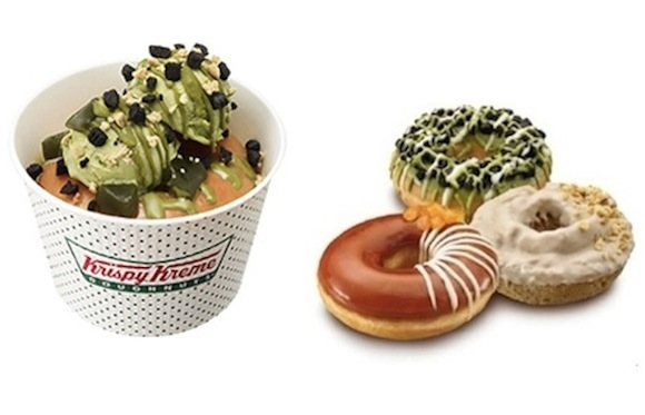 Krispy Kreme Japan brings us more doughnut ice cream sundaes and sweet tea summertime treats!