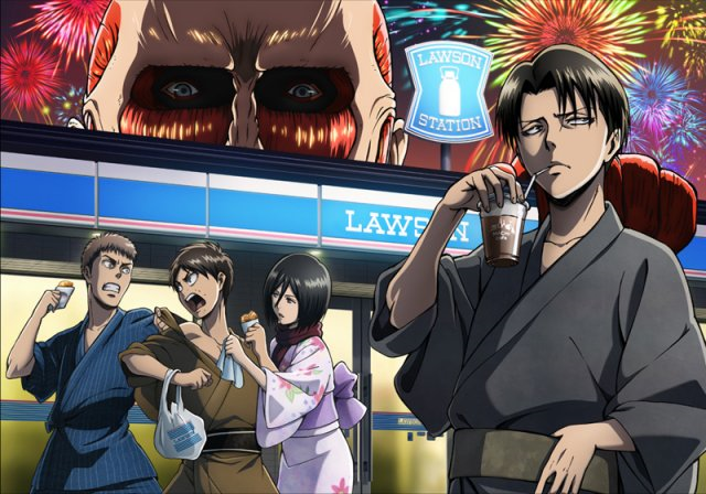 Titans attack Lawson convenience stores, bring tons of anime goodies with them