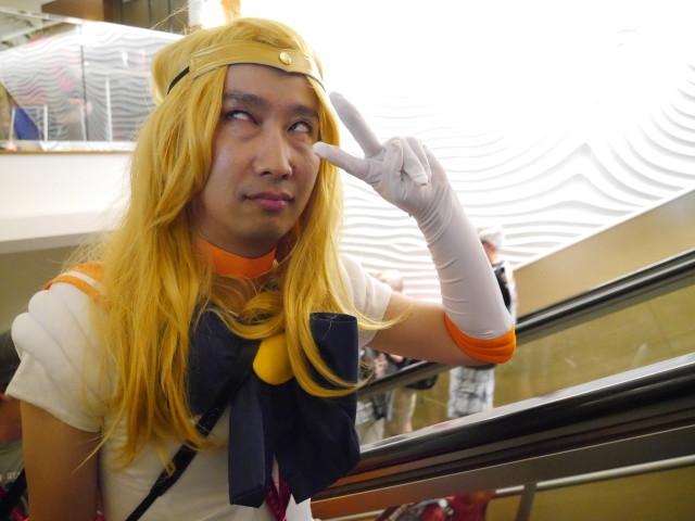 Our reporter goes looking for fans at Comic-Con…in his Sailor Venus cosplay outfit