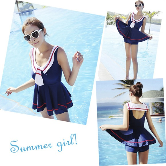 Out with the bikinis! Could these sailor swimsuits be what we've been waiting for?