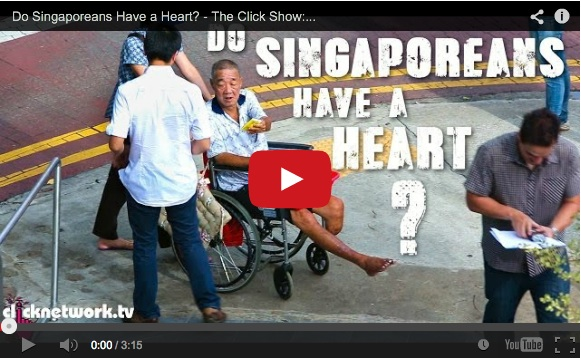 "Social experiment puts public to the test in ""Do Singaporeans have a heart?""【Video】"