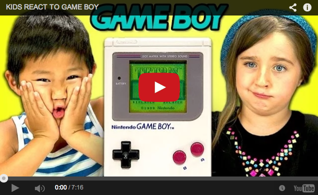 Feel lame and old by watching kids react to a Nintendo Game Boy for the first time