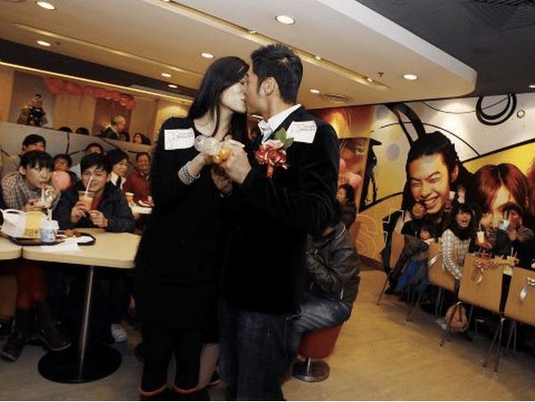 McDonald's is becoming a popular wedding venue in Hong Kong