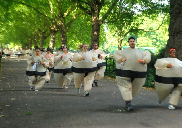 London's Sumo Run has Japanese confused, kind of offended
