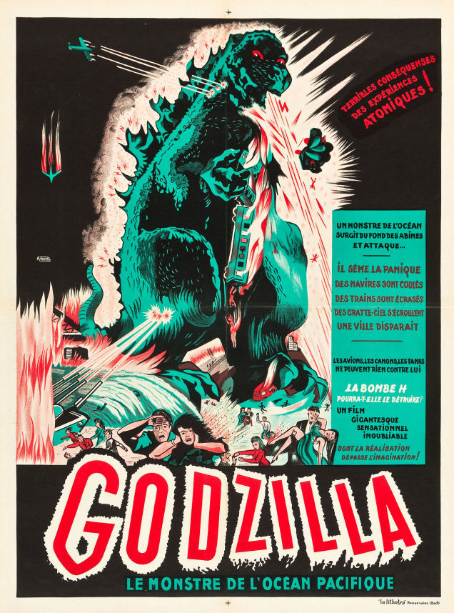 Godzilla fights around the world in these rare vintage European posters