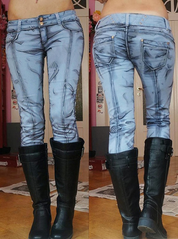 Become an anime babe with amazing DIY jeans from Borderlands: The Pre-Sequel