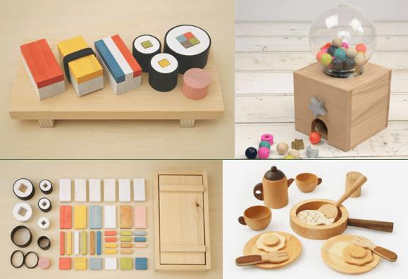 sushi building blocks, wooden timber toys