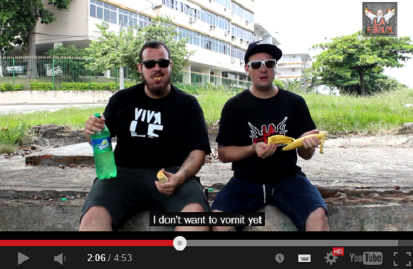 Japan asks if bananas with Sprite will make you puke, Brazilian comedians answer 【Video】
