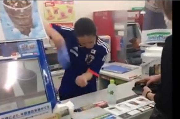Super-enthusiastic convenience store clerk fights the man, continues serving the people
