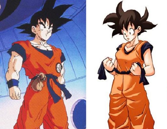 Goku as a gorgeous girl? Artist reimagines iconic manga's male hero minus his Dragon Balls