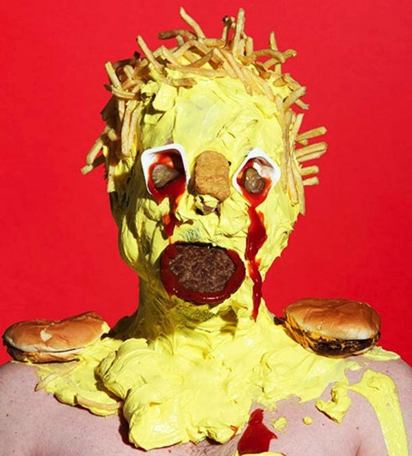 Nightmare food – Artist creates shockingly colorful portraits out of junk food