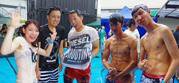 "Japan gets skimpy, slippery and wet at ""lotion x music"" festival"