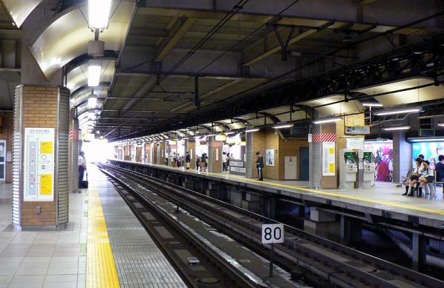 Train groper escapes along tracks at Ebisu station in Tokyo
