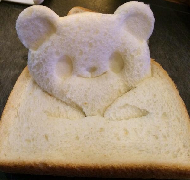 This little bear just popped up from your toast to say good morning!