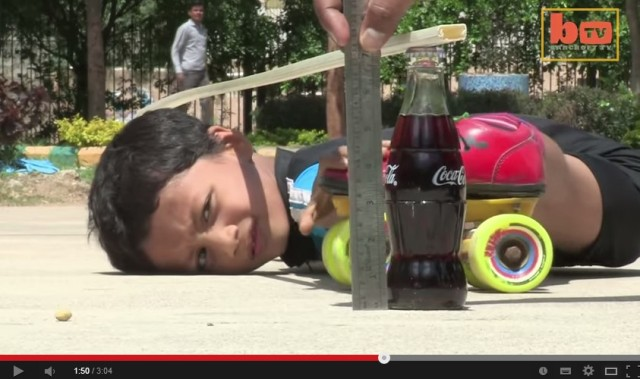 A six-year-old smashed the previous limbo skating record, in case you wanted to know