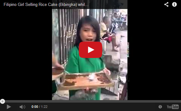 Little girl sings her heart out while selling rice cakes, leaves us blown away 【UPDATED】