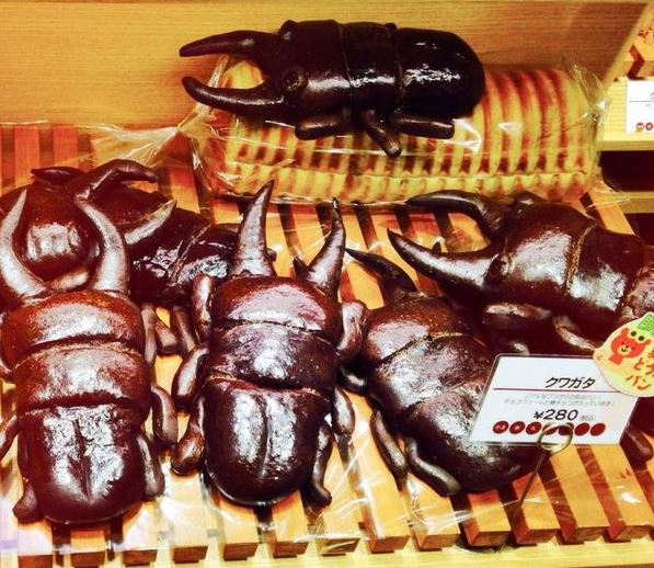 Realistic stag beetle bread repulses and fascinates us