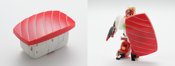 More than meets the eye, sushi in disguise! Check out these transforming sushi toys!