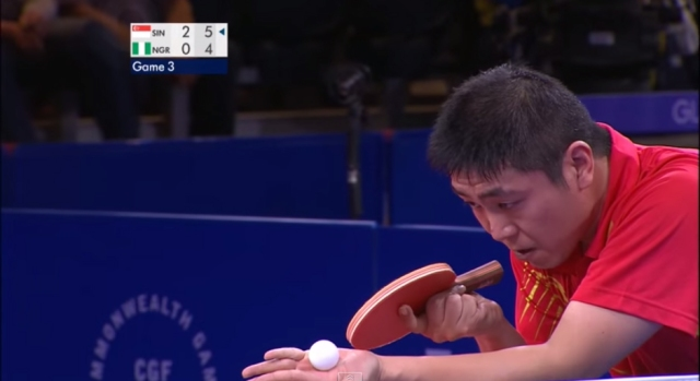 Table tennis greats serve up incredible 41-shot rally at Commonwealth Games