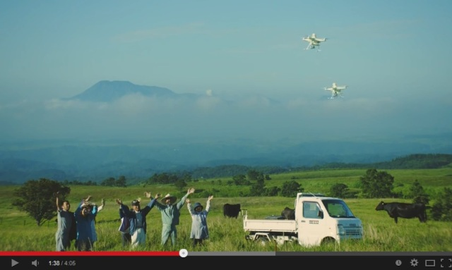 Kirin promotes new alcohol by filming rural people with pigeon-shaped drones… because they can
